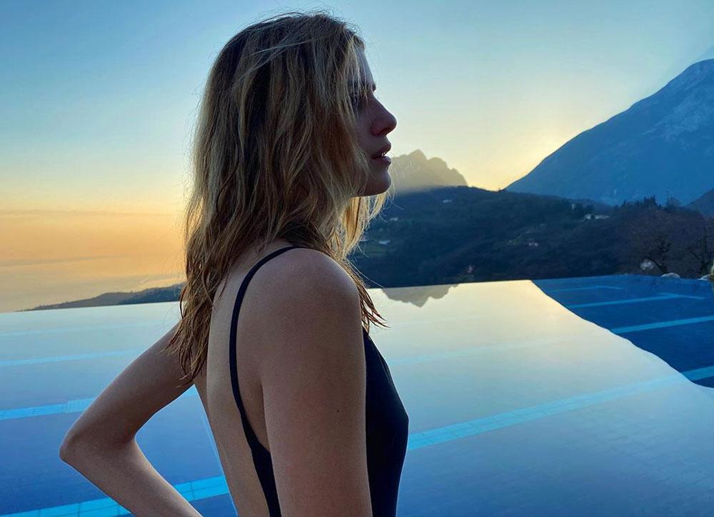 Benedetta Porcaroli posing for the photoshoot
