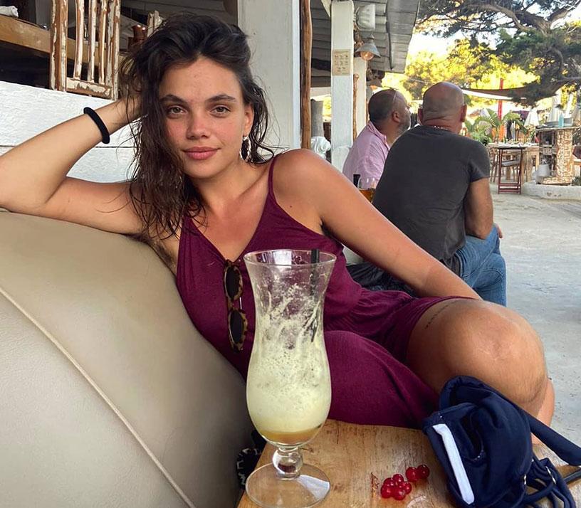 Martina Cariddi purple dress