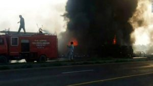 Horrific Accident Occurs as People in Pakistani Outskirts Try to Collect Oil from an Over-turned Tanker! 140 Burnt Alive!