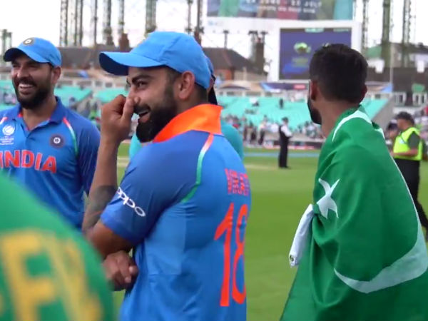 Wonder why? Here's what Kohli, Yuvi and Shoaib Malik were Discussing After ICC CT Final!