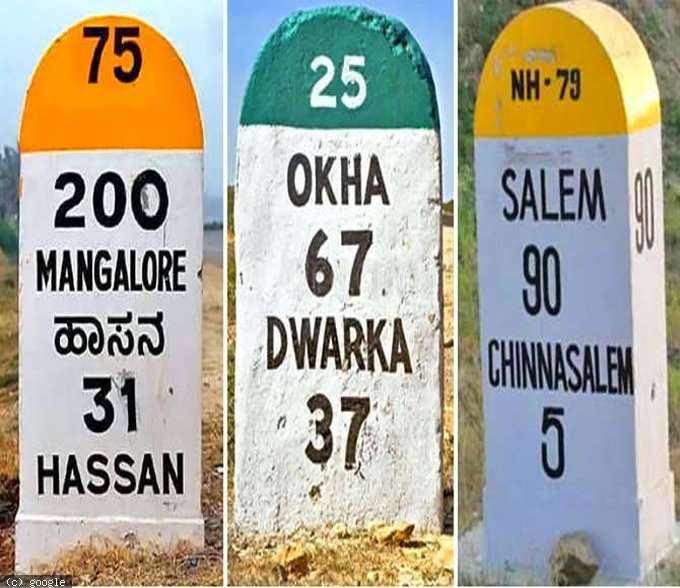 Noticed the Different Colors on Road Milestones? This is What it Means