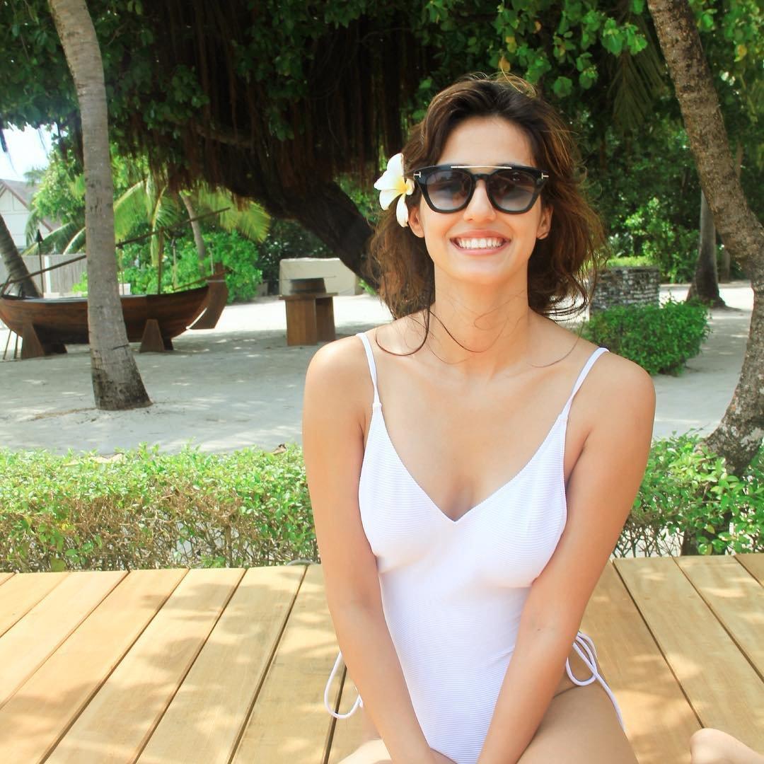 disha patani white bikini