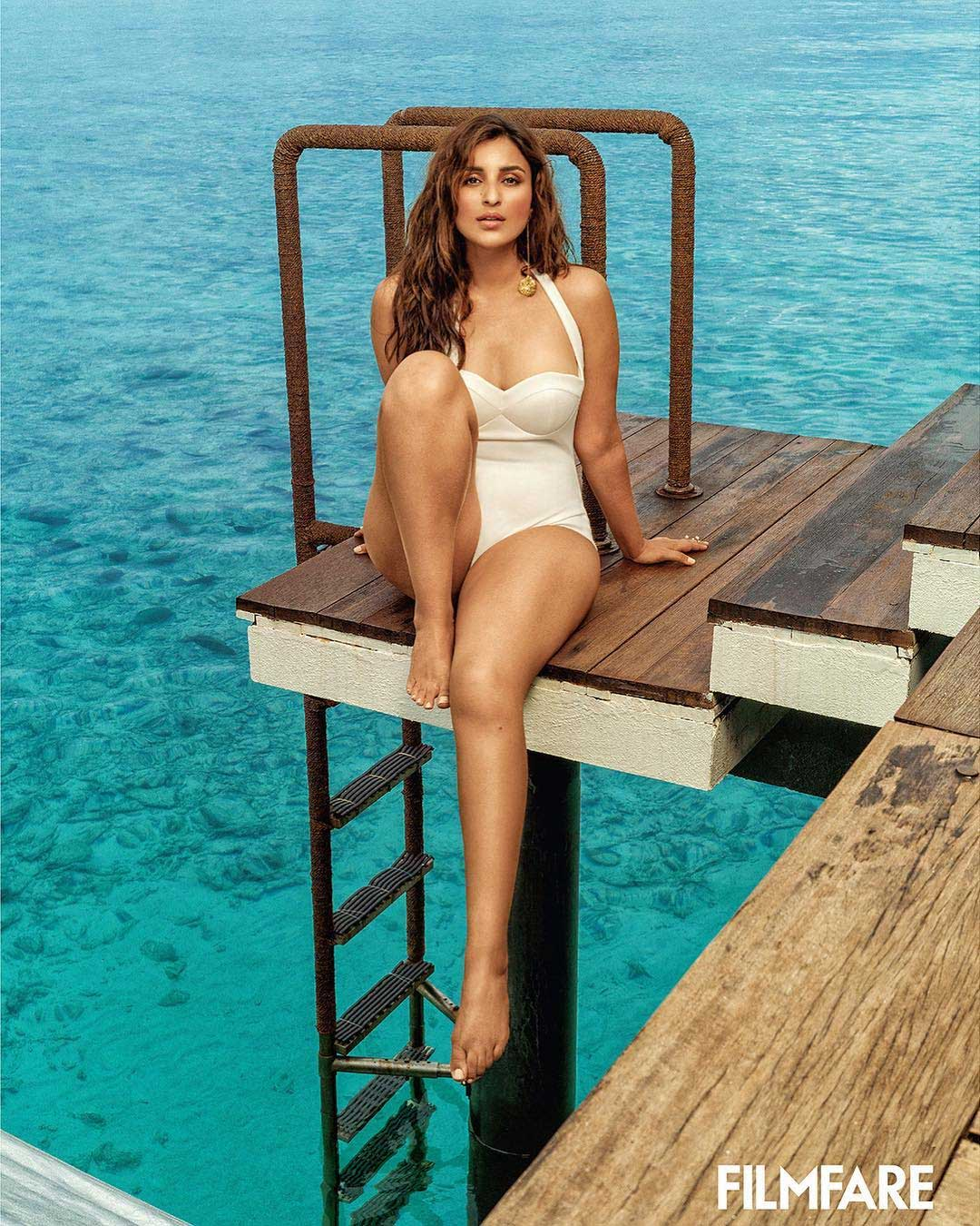 parineeti chopra bikini white