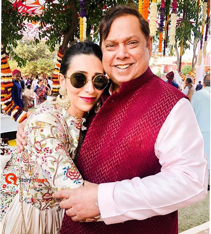 karishma sharma with david dhawan at isha ambani wedding