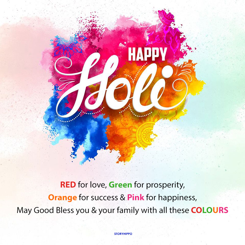 Happy holi wishes creative background