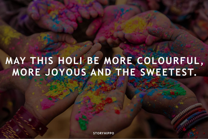 color in hand with wishes caption