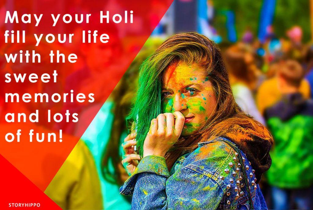 Happy Holi english Girl