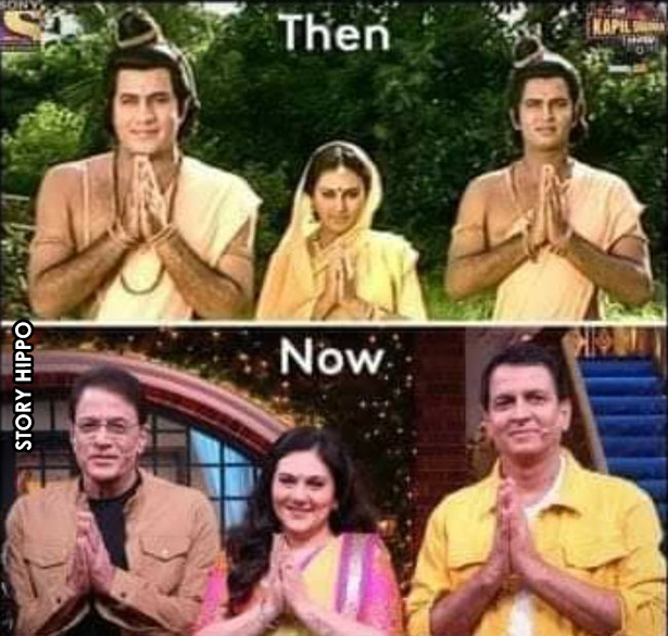 ramayana cast then and now meme