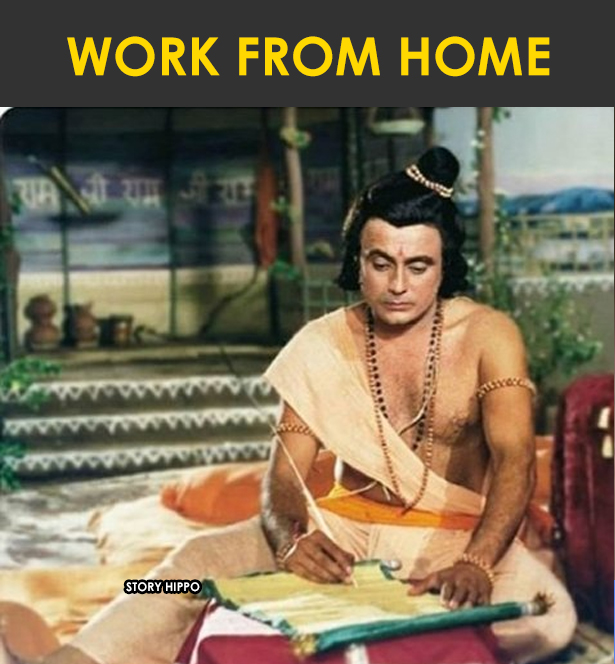 work from home ramayana meme bharat