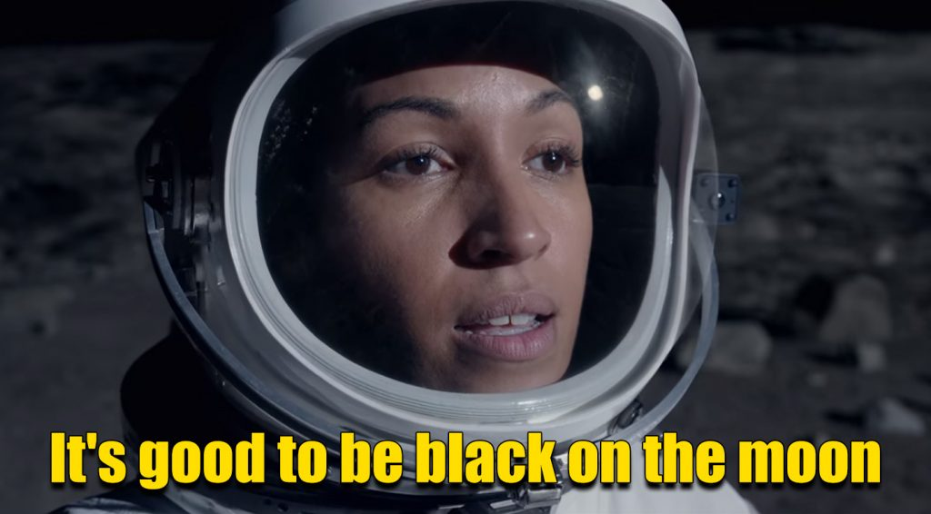 It's good to be black on the moon