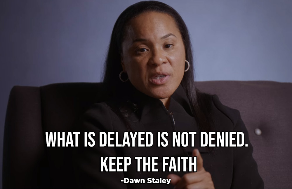 What is delayed in not denied dawn staley quote Netflix series