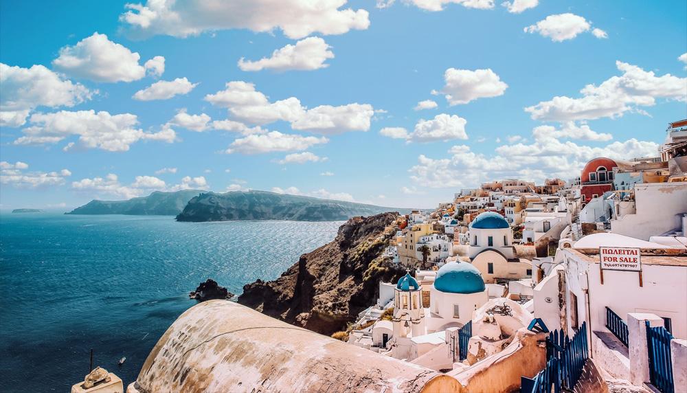 Santorini Greece romantic honeymoon destination