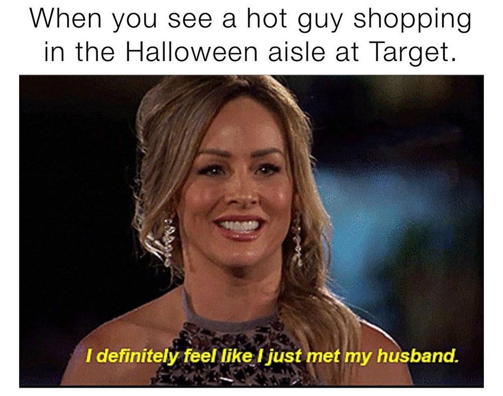 funny Halloween meme shopping at target