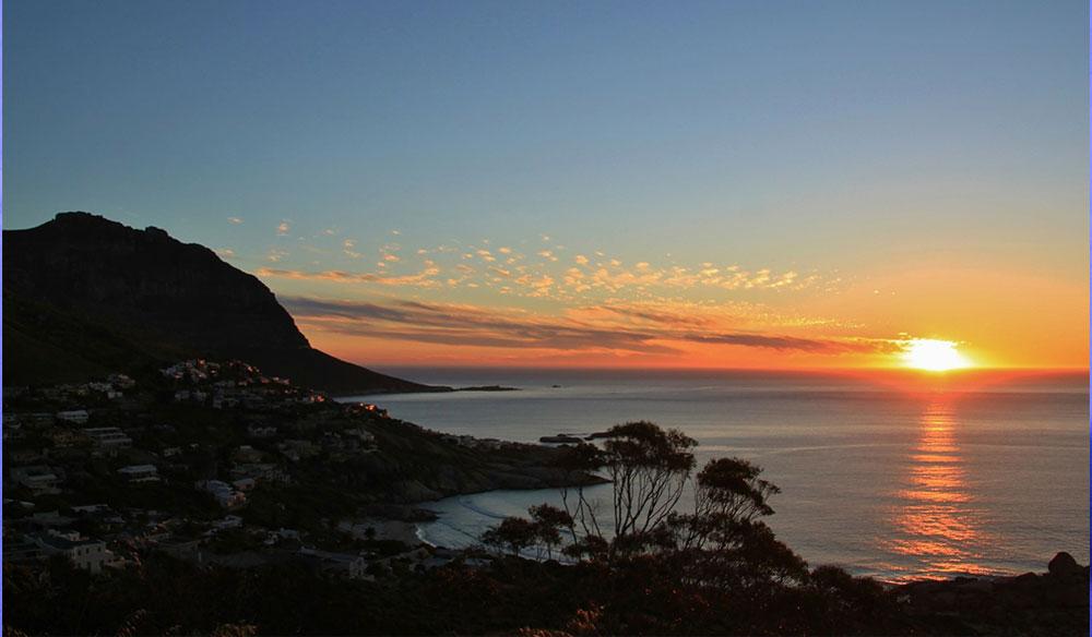 romantic sunset chapman's peak south africa