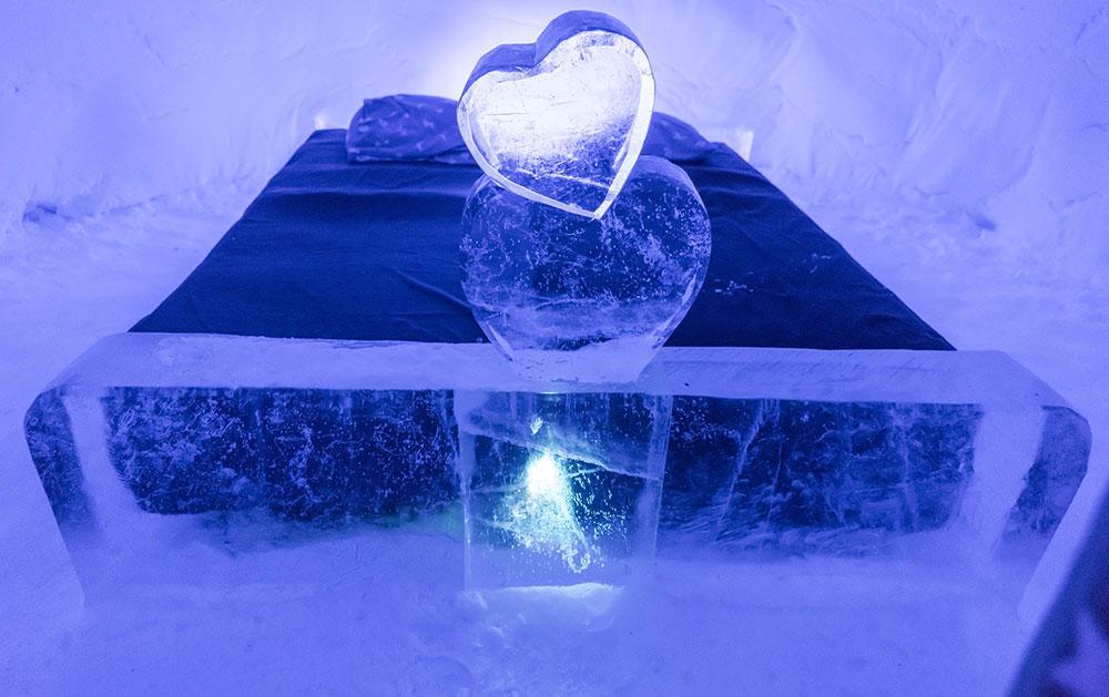 the romantic ice hotel Scandinavian honeymoon idea