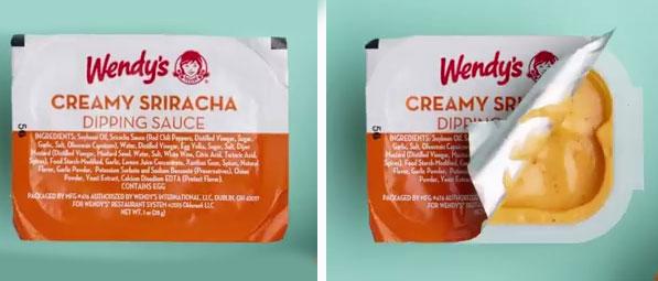 Wendy's creamy sriracha dipping sauce