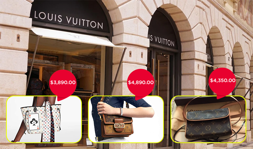 Louis Vuitton expensive bag brands