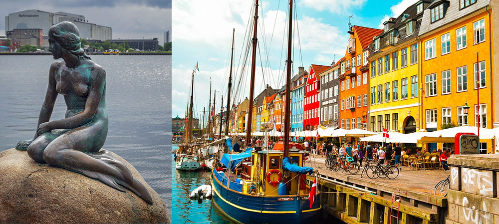 beautiful romantic city Copenhagen Denmark