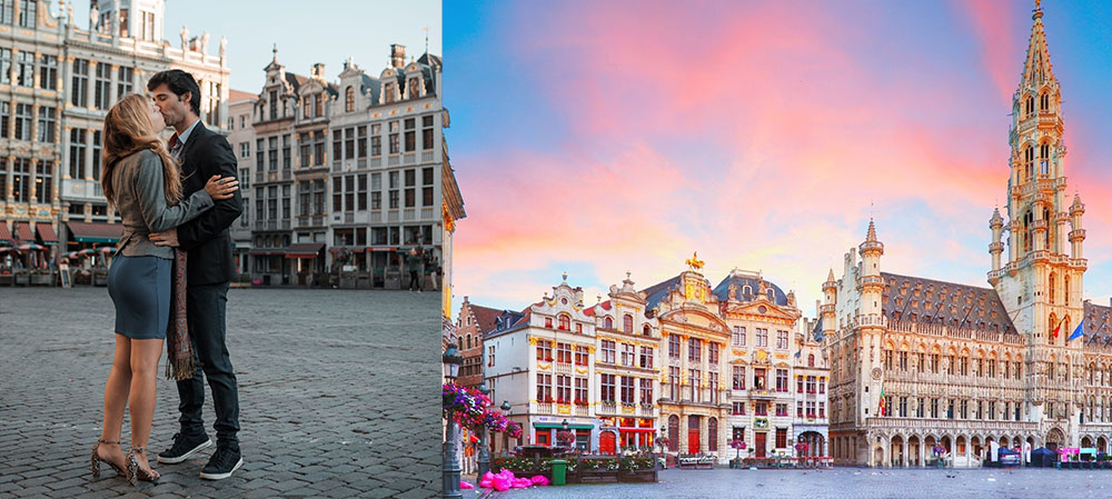 romantic city of brussels