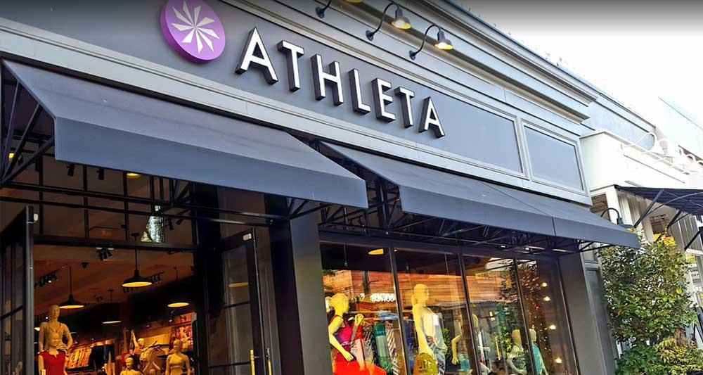 athleta store front yoga brand
