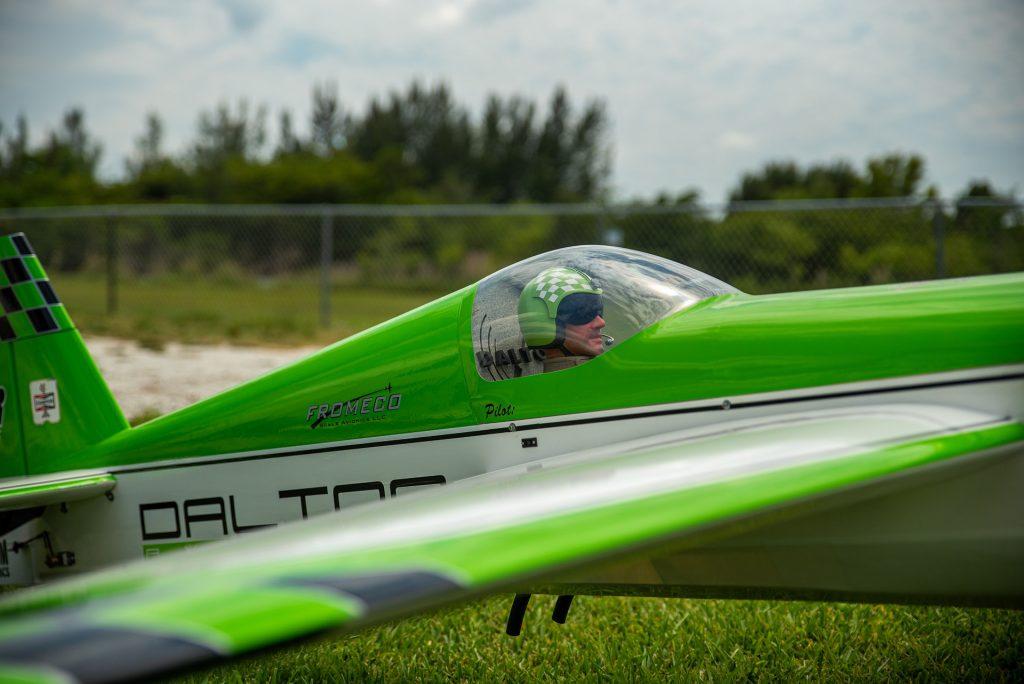 flying an rc green plane hobby
