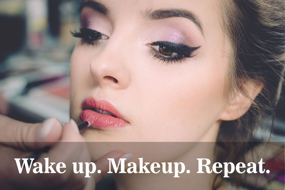 Wake up Makeup Repeat caption for Instagram